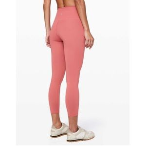 """Lululemon Wunder Under High-Rise Tight 25"""" *Full-On Luxtreme Rustic Coral (10)"""